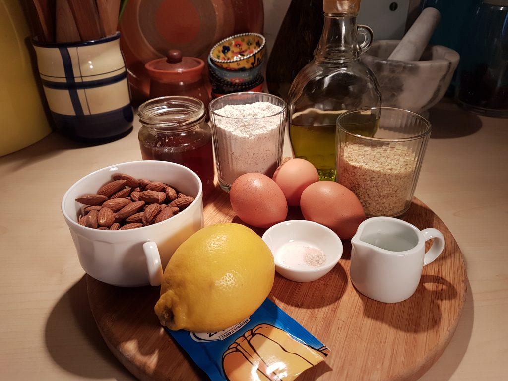 Sastojci za pripremu zdravih biscotti keksica