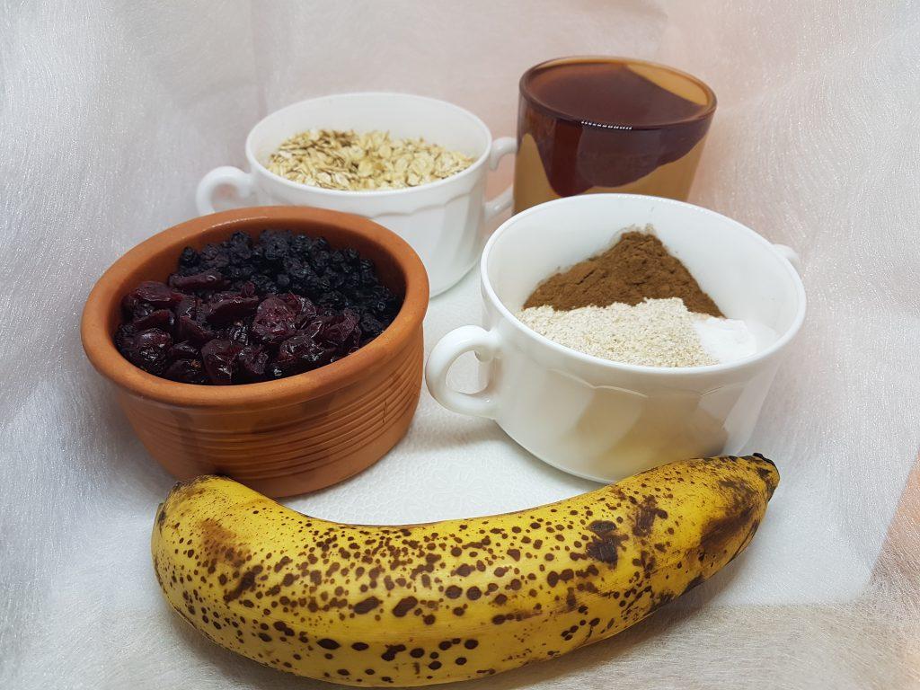 Sastojci za pravljenje zdravih musli-kolačića