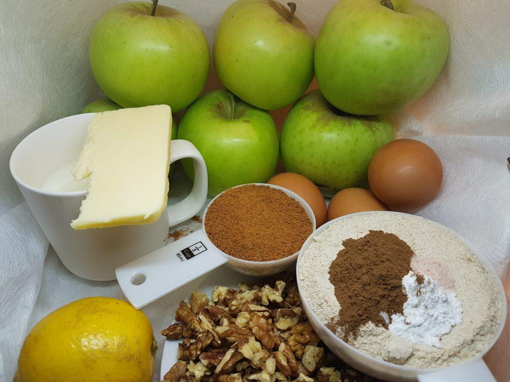 Glavni sastojci za pripremu baklave od jabuka