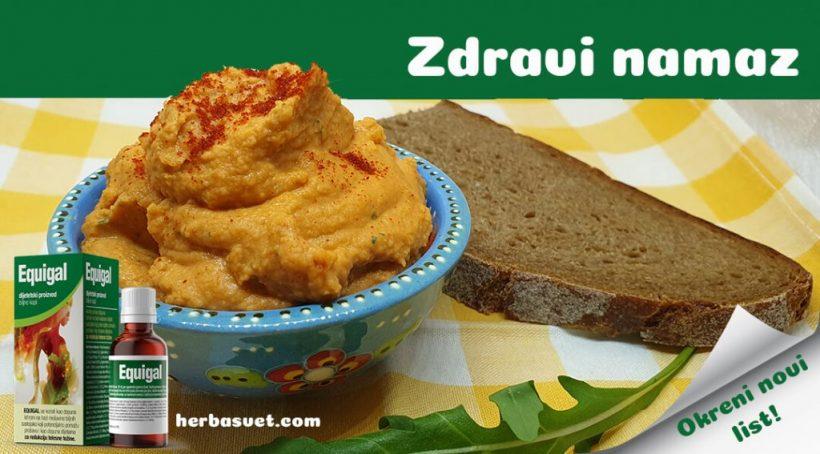 Zdravi namaz crveni humus od sočiva