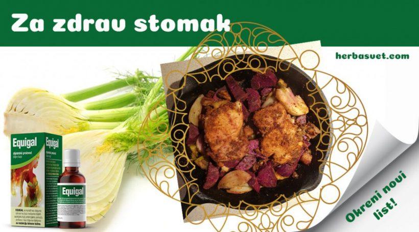 Piletina u kariju s povrćem