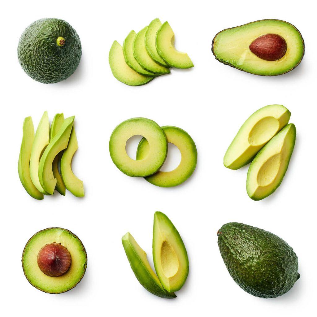 Avokado isečen na različite načine
