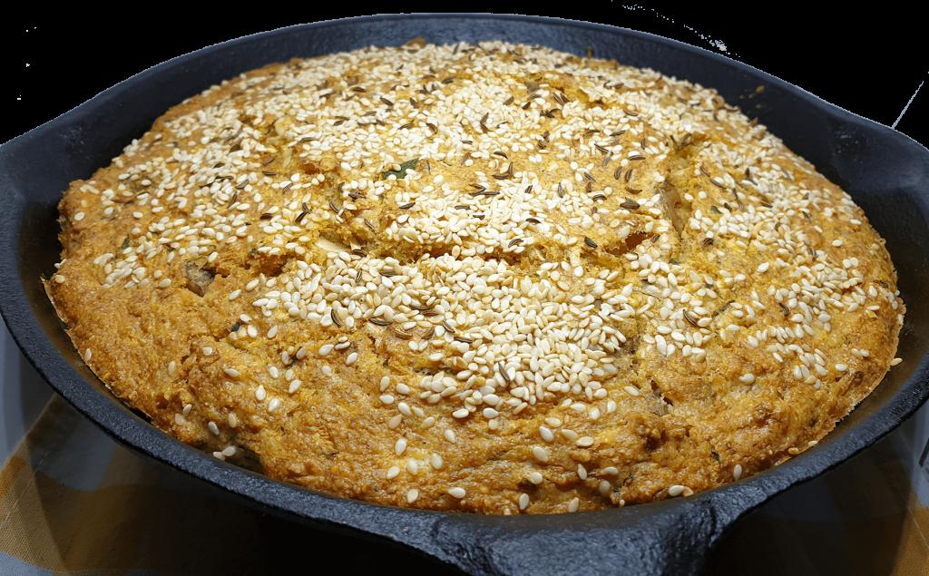 Mediteranski hleb posle pečenja