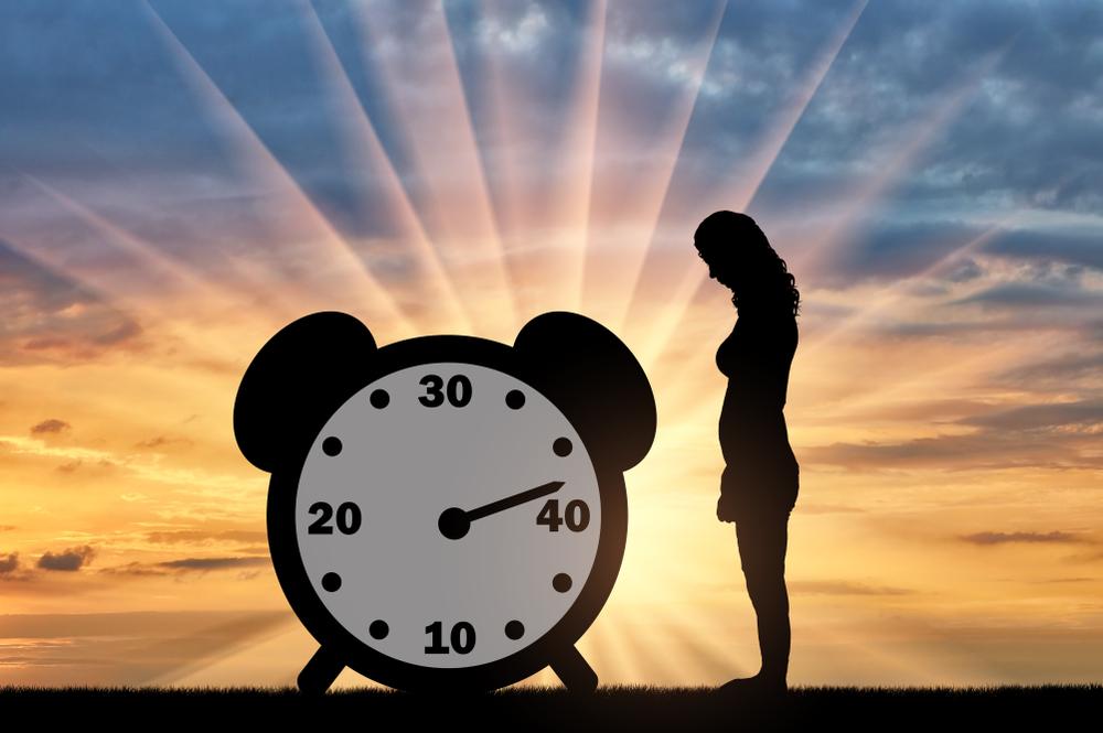 Ilustracija zene i protoka vremena