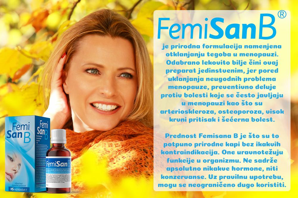 Femisan B - otklanja tegobe u menopauzi